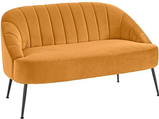 2-Sitzer QUENTIN Samtbezug in goldfarben, Breite 130 cm