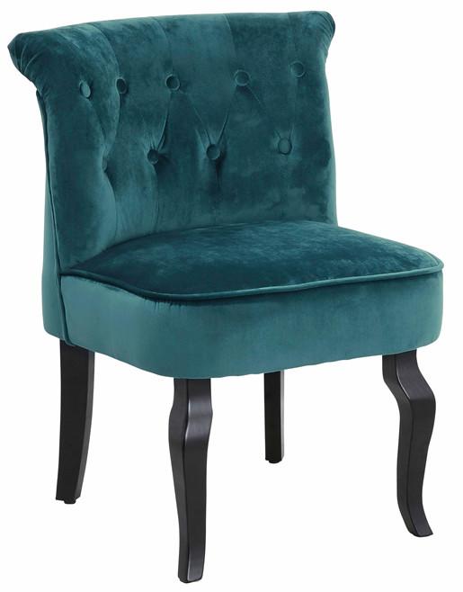 Gepolsterter Sessel BEA mit Samtveloursbezug in grün