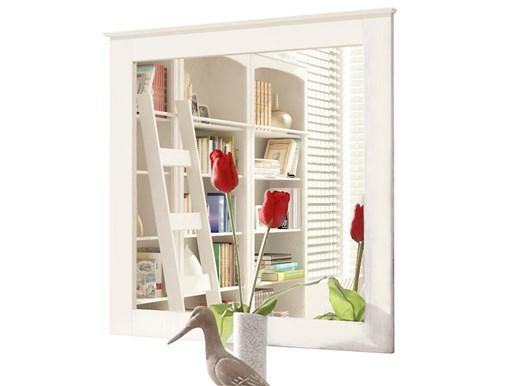 Spiegel ALLY 75x75 cm aus Kiefer massiv in weiß