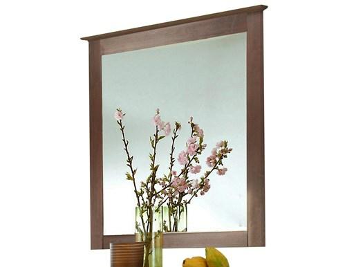 Spiegel ALLY aus Kiefer massiv in havanna