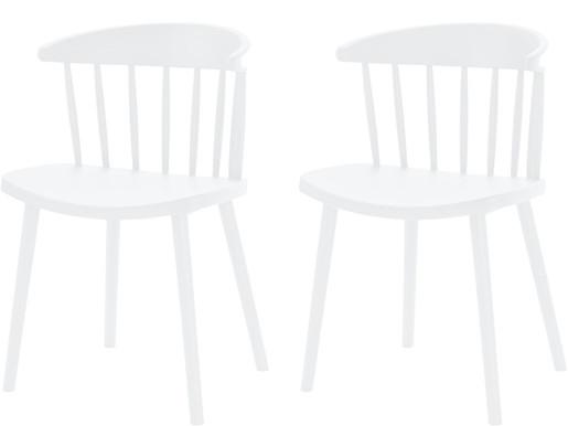2er-Set Stühle GILL aus Kunststoff in weiß