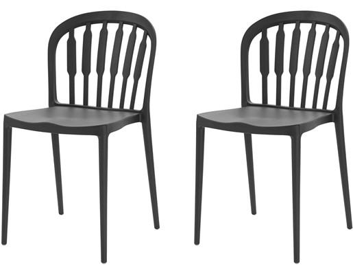 2er-Set Stühle LAERKE aus Kunststoff in schwarz