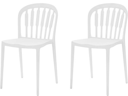 2er-Set Stühle LAERKE aus Kunststoff in weiß