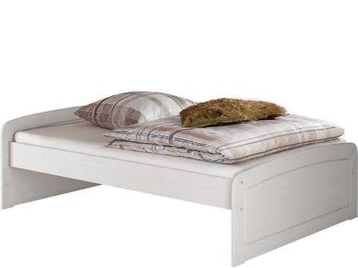 Bett RONJA 140x200 cm Kiefer in weiß lasiert