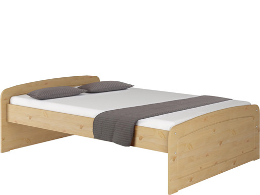bett ronja 140x200 cm aus kiefer in gebeizt ge lt. Black Bedroom Furniture Sets. Home Design Ideas