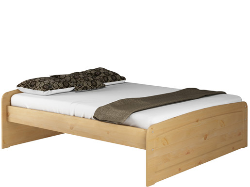 Bett RONJA 180x200 cm aus Kiefer in gebeizt geölt