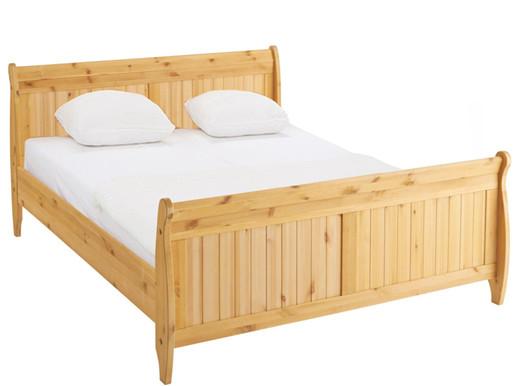Doppelbett REMY 180x200 cm aus Kiefer massiv, gebeizt geölt