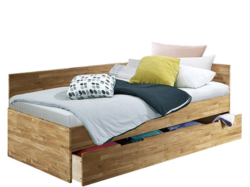 Funktionsbett KINGDOM 90x200 aus Eiche massiv in geölt