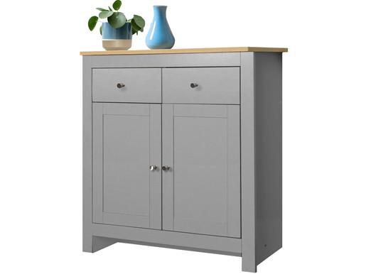 2-trg. Sideboard EMILY mit 2 Schubladen in grau/eichefarben