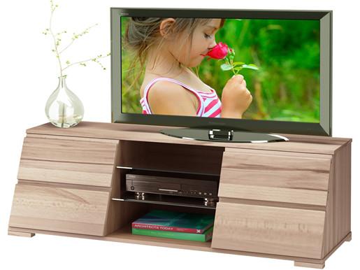 TV Lowboard AMY aus Kernbuche gewachst mit vier Schubladen
