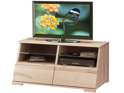 TV Lowboard AMY aus Kernbuche gewachst mit zwei Schubladen