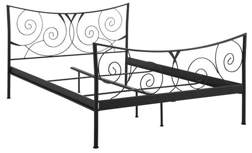 Metallbett ROSE 180 x 200 cm in schwarz