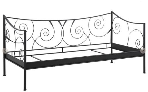 Metall-Daybett ROSE 90 x 200 cm in schwarz