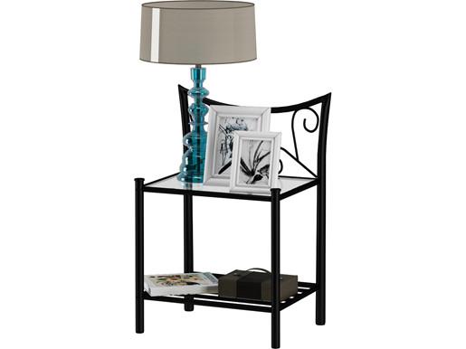 Nachttisch ROSE aus Metall in schwarz