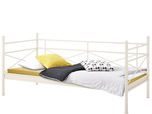 Tagesbett THYRA 90 cm aus Metall in weiß