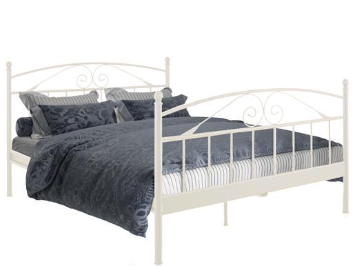 Bett FLORENZ 180x200 cm aus Metall in cremeweiß