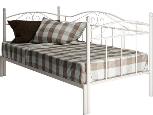 Tagesbett FLORENZ 90 cm aus Metall in weiss
