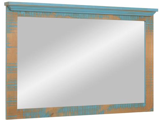 Spiegel MOLLA 110x70 cm aus Kiefer in Türkis