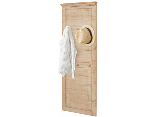 Garderobenpaneel MOLLA aus Kiefer massiv 6 Haken in creme