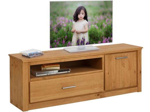 TV-Lowboard CELINA Kiefer massiv gebeizt geölt, 160 cm breit