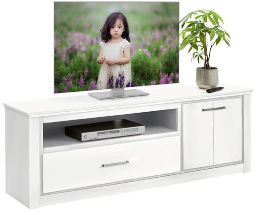 TV-Lowboard CELINA Kiefer massiv in weiß, Breite 160 cm