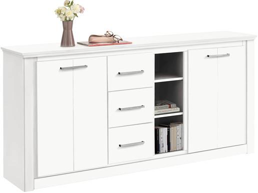 2-trg. Sideboard CELINA aus Kiefer massiv in weiß