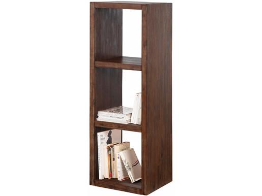 Bücherregal CUBE 3 Fächer Akazienholz braun