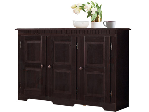 Sideboard LILA 3 Türen Kiefer massiv in havanna lackiert