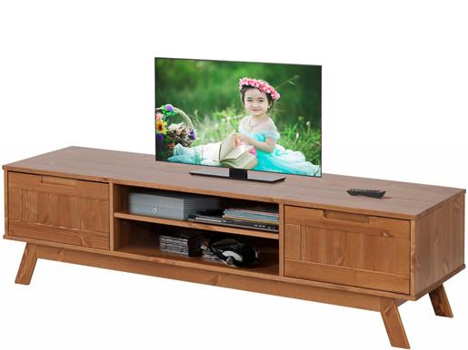 2-trg. TV Lowboard OLE aus Kiefer in walnuss, Breite 150 cm