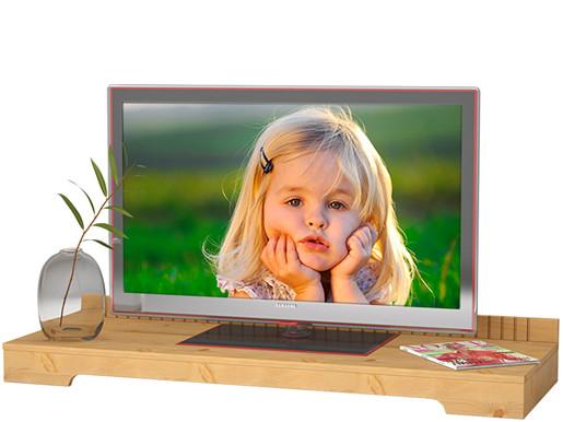 TV-Lowboard CARLA aus Kiefer massiv in gebeizt geölt
