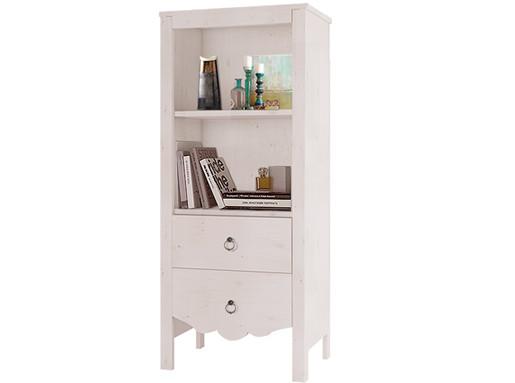 Bücherregal AVA aus Kiefer Massiv in weiß lasiert