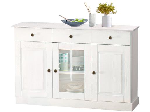 Sideboard MARION Breite 125 cm aus Kiefer in weiß gebürstet