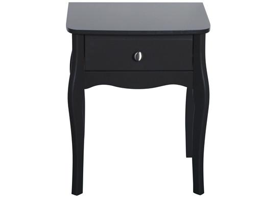 Nachttisch BAROQUE 1 Schublade aus MDF in schwarz