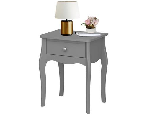 Nachttisch BAROQUE 1 Schublade MDF in grau