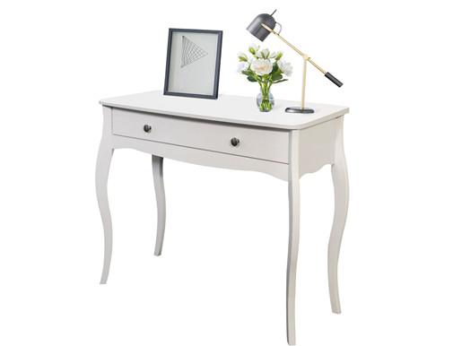 Konsolentisch BAROQUE mit Schublade aus MDF in weiß