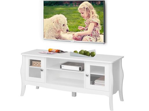 TV-Lowboard BAROQUE aus MDF in weiß, Breite 120 cm