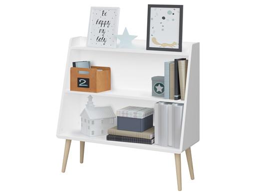 Bücherregal GIGI im skandinavischen Design, weiß