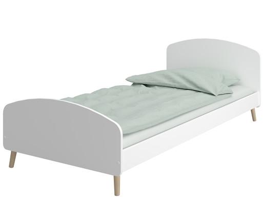 Bett GIGI im skandinavischen Design in weiß, 90x200 cm