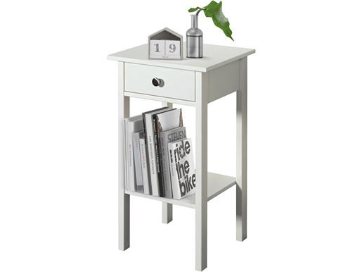 Beistelltisch TICO 1 Schublade MDF in weiß