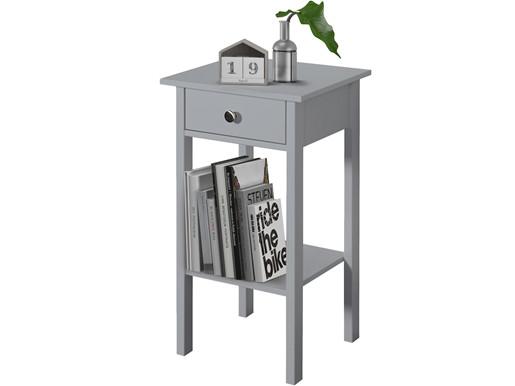 Beistelltisch TICO 1 Schublade aus MDF in grau
