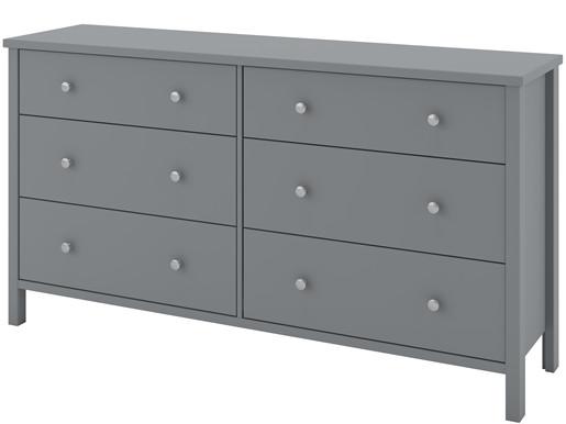 Kommode TICO mit 3+3 Schubladen in grau, Breite 154 cm