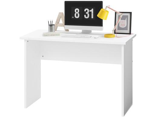 Schreibtisch COMBAT in weiß aus MDF und Kiefer 110 cm