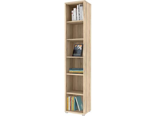 Bücherregal BORAN mit 6 Fächern in eichefarben