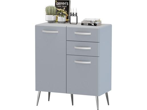 Sideboard CORA 2 Türen & 2 Schubladen in grau