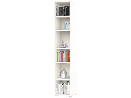 Bücherregal BORAN mit 6 Fächern in weiß
