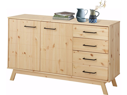 sideboard nordea 4 schubk sten kiefer massiv natur lackiert. Black Bedroom Furniture Sets. Home Design Ideas