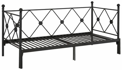 Daybett JOSIE 90/180x200 cm aus Metall in schwarz lackiert