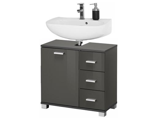 1-trg. Waschbeckenunterschrank KEN in grau Hochglanz