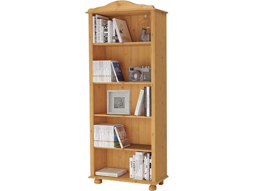 Bücherregal Landhausstil JASMIN aus Kiefer in gebeizt geölt