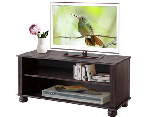 TV Lowboard MACON aus Kiefer massiv in havana lackiert